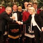 NY Staff Band Conductor Ronald Waiksnoris and Cincinnati Brass Band Conductor Anita Cocker Hunt